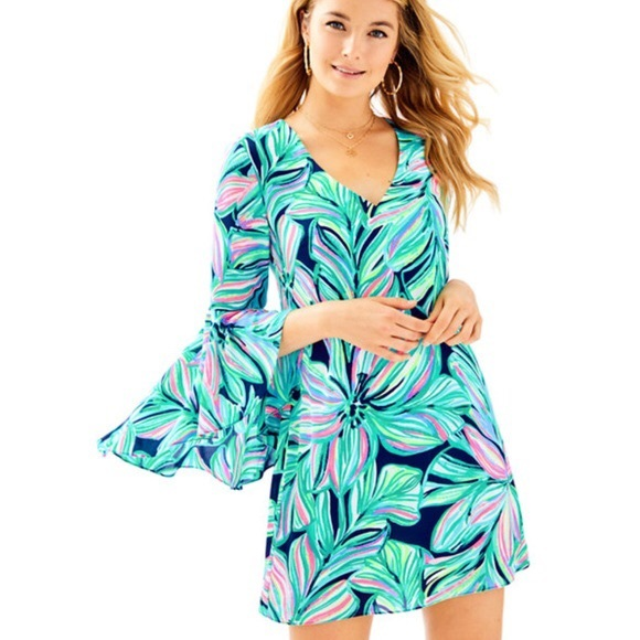 Lilly Pulitzer Dresses & Skirts - Lilly Pulitzer Rosalia Bell Sleeve A-Line Dress
